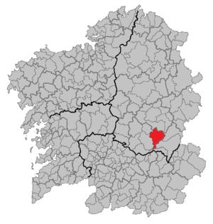A Pobra do Brollón - Location of A Pobra do Brollón in Galicia.