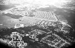Aerial view of Skarpnäck in 1980
