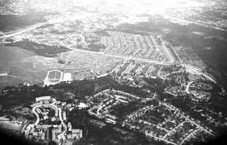 Skarpnäck (borough) - Aerial view of Skarpnäck in 1980