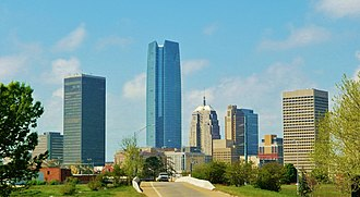 Downtown Oklahoma City - Downtown Oklahoma City skyline from the Northeast