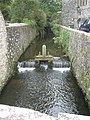 Sluice controlling the river Alun beside St David's Cathedral - geograph.org.uk - 1515663.jpg