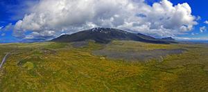 Snæfellsjökull aerial panorama