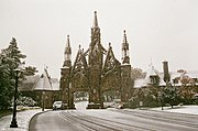 Snowfall at GreenWood Cemetery