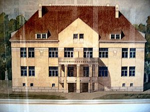Karl Lindahl (architect) - Söderkulla mansion in Sipoo, 1908
