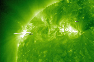 Solar Flare and Coronal Mass Ejection (STEREO)