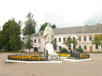 Soltsy - A World War II memorial in Soltsy