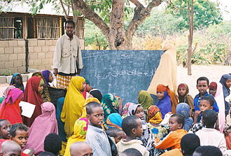 Dadaab - An outdoor school in Dadaab