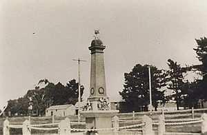 Somerville, Victoria - Somerville war Memorial in 1923 located at the intersection of Frankston-Flinders and Eramosa roads.