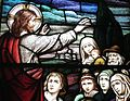 Sorrowful Mother Shrine Chapel (Bellevue, Ohio) - stained glass, Jesus Zealous for Souls - detail.jpg