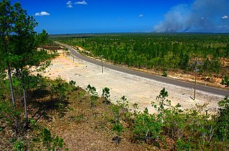 Southern Highway (Belize) - Southern Highway just south of Deep River