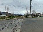 Southwest along tracks & across W 650 S in Heber City, Utah, Apr 16.jpg