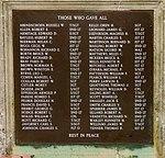 Spanhoe Airfield memorial namelist - geograph.org.uk - 3365458.jpg