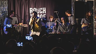 Sparks (band) - Sparks performing at Rough Trade East, Brick Lane, London in September 2017