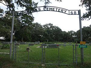 Speaks, Texas - Image: Speaks TX Cemetery