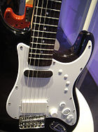 Squier Stratocaster Pro Controller (body) for Rock Band 3 @ E3 Expo 2010.jpg