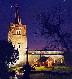 Aldenham village and civil parish in Hertfordshire, England