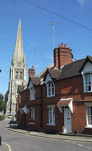 St Martin's Church, Dorking - Image: St Martin's Church geograph.org.uk 200802