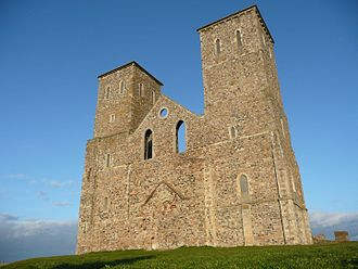 Reculver - Image: St Marys Church Reculver Towers