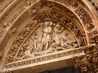 Saint Michael disputing with Satan