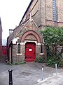 St Peter's Church, Prescot Place, London SW4 - Doorway - geograph.org.uk - 835385.jpg