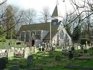 Woodmansterne - Image: St Peters, Woodmansterne in 2004