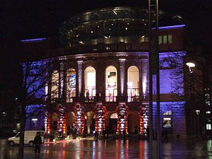 Staatstheater Mainz - Night view of the theatre