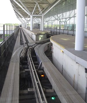 Stansted Airport Transit System - Image: Stansted Airport Transit System switch
