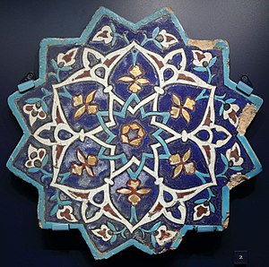 Cuerda seca - Image: Star shaped tile V&A C.747 1909