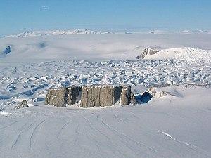 Nunatak - Starr Nunatak, on the coast of Victoria Land, Antarctica