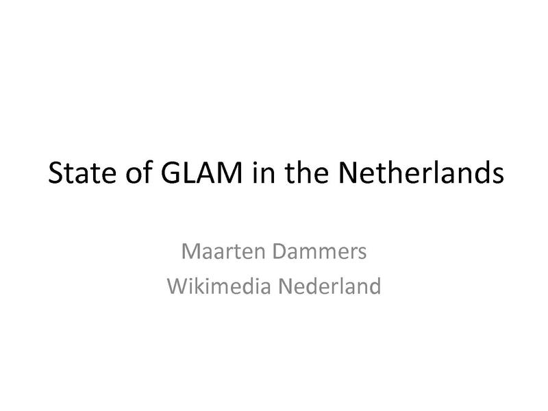 File:State of GLAM in the Netherlands.pdf