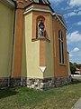 Statue of Saint John the Evangelist by Lajos Mátrai Jr., Saint Barbara church, 2017 Dorog.jpg