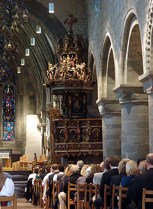 1658 in Norway - Pulpit in Stavanger Cathedral