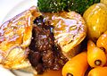 Steak pie with veg and gravy.JPG