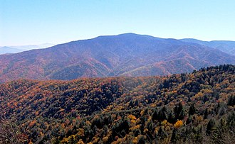 Mount Sterling (Great Smoky Mountains) - Mount Sterling, viewed from Mount Cammerer