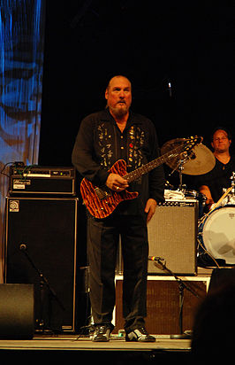 Steve Cropper met The Blues Brothers band tijdens het Hamar Music Festival 2007, in Hamar, Hedmark.