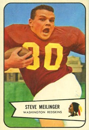 Steve Meilinger - Meilinger on a 1954 Bowman football card