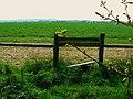 Stile and farmland near Yatesbury - geograph.org.uk - 414118.jpg