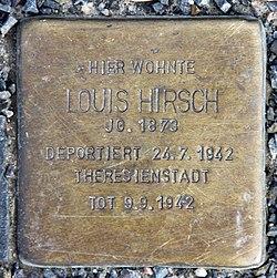 Photo of Louis Hirsch brass plaque