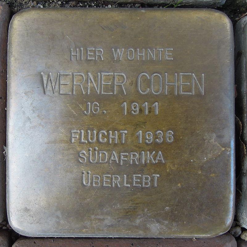 Stolperstein für Werner Cohen