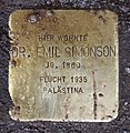 Stolperstein Georg-Wilhelm-Str 2 (Halsee) Emil Simonson.jpg