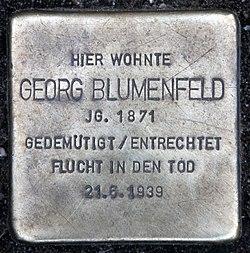 Photo of Georg Blumenfeld brass plaque