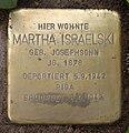Stolperstein Nicolaistr 38 (Lankw) Martha Israelski.jpg
