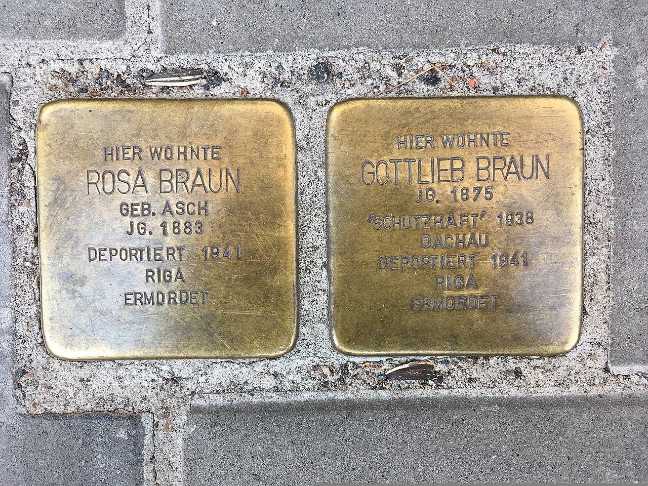 Rosa und Gottlieb Braun