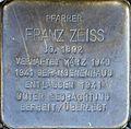 Stolperstein Salzburg, Franz Zeiss (Mirabellplatz 5).jpg