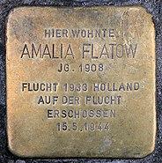 Stolperstein Schlüterstr 49 (Charl) Amalia Flatow