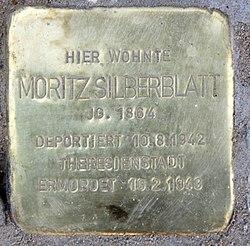 Photo of Moritz Silberblatt brass plaque