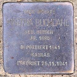 Photo of Martha Buchdahl brass plaque