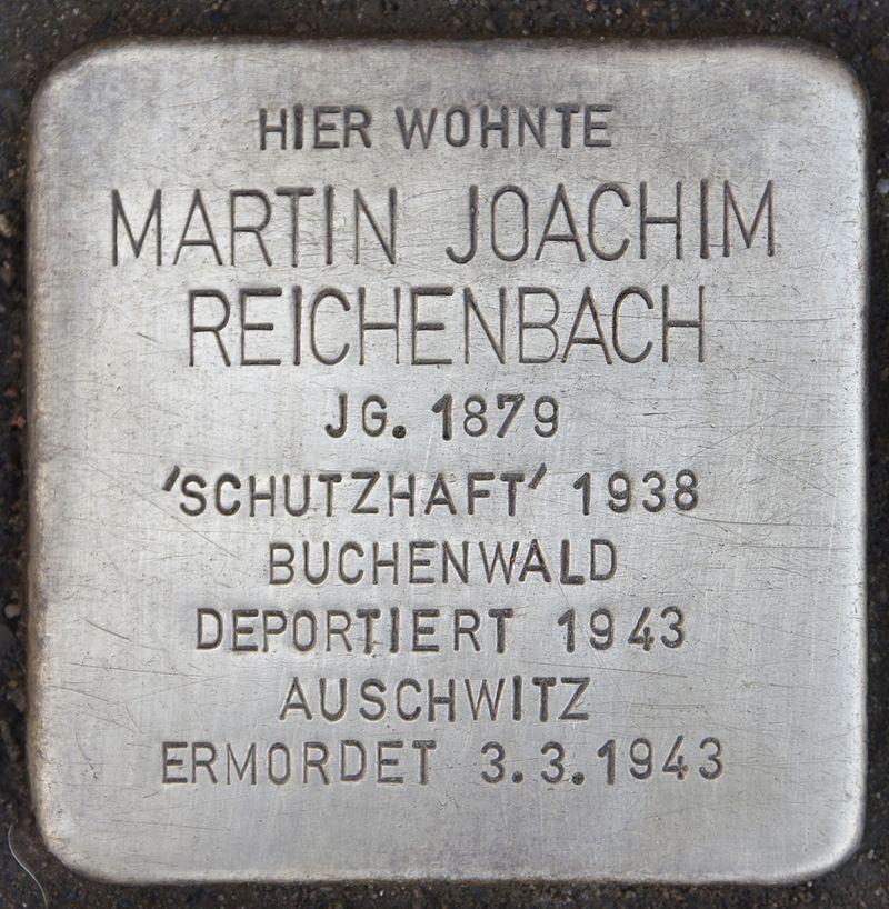Stolperstein für Martin Joachim Reichenbach.jpg