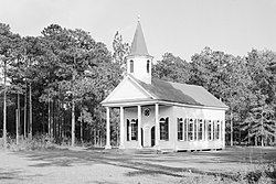 Stoney Creek Presbyterian Church, 1 block North of SC Route 17, McPhersonville (Hampton County, South Carolina).jpg