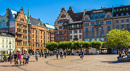 Stortorget, a large plaza in the center of Malmo Stortorget in Malmo, Sweden.jpg